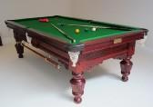 8ft antique  mahogany carved Billiard - Snooker, heavy slate c1890