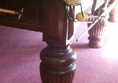 close up of corner leg
