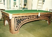 10ft Magnus antique billiard table solid slate scagliola finish c1825