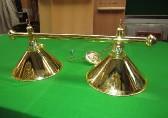 brass bar with 2 x brass coolie shades
