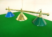 brass bar with various coolie shades