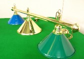 brass bar with 3 x coolie shades