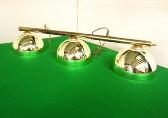 brass bar with 3 x acrylic domed shades