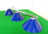chrome bar with 3 x blue acrylic shades
