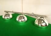 chrome bar with chrome domed acrylic shades