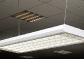 slim panel fitting with fluorescent tubes