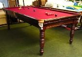 Riley antique 8ft billiard snooker table c1920 mahogany