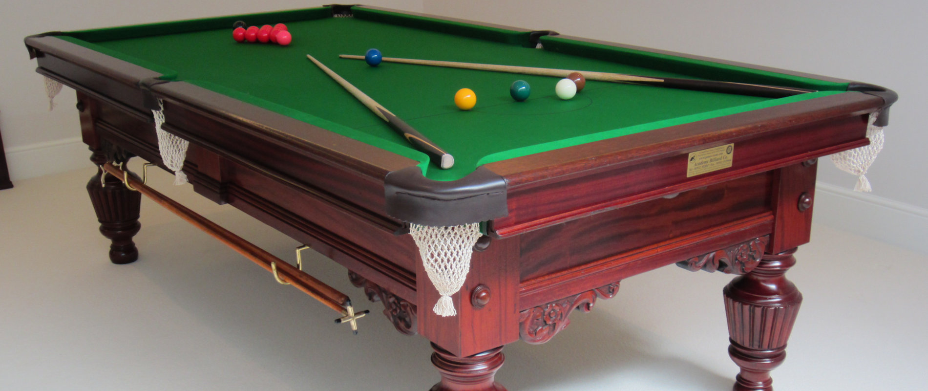 New & Antique Billiard Snooker & Pool Tables